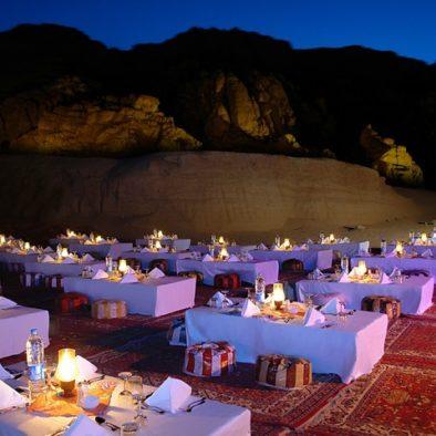 Cena beduina sharm deserto